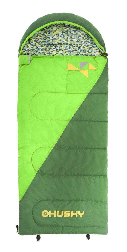 Спальный мешок-одеяло Husky Kids Milen, левосторонняя молния, цвет: зеленыйУТ-000057582Новый спальный мешок спроектирован для юных туристов. Этот спальник очень просторный и удовлетворит запросы ребенка, которому не нравятся спальники формы кокон. В этом спальнике вы найдете все характерные детали спальников Husky, как внутренний и внешний карманы, светоотражающие элементы, компрессионный мешок и уникальный дизайн в стиле Husky.Внутренний материал: полиэстер.- Внешний материал: 70D 190Т нейлон Taffeta.Утеплитель: волокно Hollowfibre 2 слоя по 150 гр/м2.
