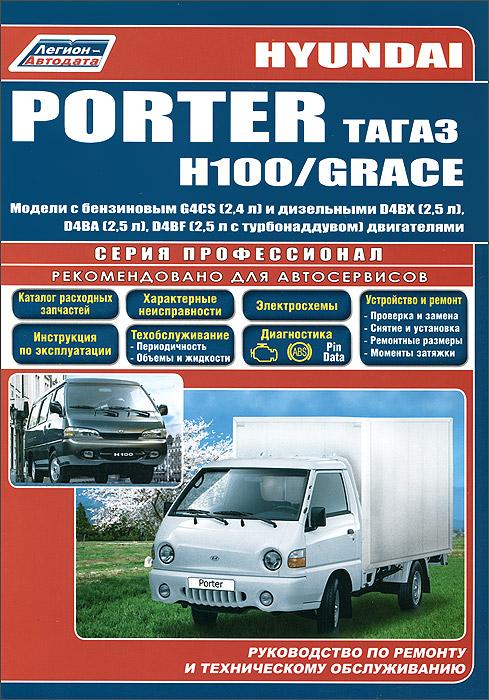 Hyundai Porter, Н1001 / Grace. Модели с бензиновым и дизельными двигателями. Руководство по ремонту и техническому обслуживанию
