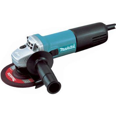 Шлифмашина угловая Makita 9558HN9558HNМашина углошлифовальная Makita 9558HN - мощный и универсальный инструмент для профессиональных строительных работ, а также для ремонта и отделки помещений. УШМ Makita 9558HN позволяет легко произвести демонтаж, удалить старую краску, зачистить любую поверхность и т.д. Инструментом удобно шлифовать поверхности, распиливать кирпич, камень, металл, плитку, бетон.Несмотря на небольшие размеры и вес, болгарка очень эффективна для резки особо прочных материалов. Предусмотрена усиленная система защиты от абразивной пыли. Защита реализована посредством эпоксидной изоляции обмотки двигателя, лабиринтного уплотнения и герметизации кнопки пуска инструмента. Болгарка Makita 9558HN оснащена компактным и мощным двигателем, коническим редуктором с усиленными шестернями, который обеспечивает надежную передачу. При сильном изнашивании угольных щеток инструмент автоматически выключается. Щетки можно заменить без разбора корпуса. Электронная система контроля значения пускового тока позволяет постепенно увеличивать обороты при включении. Этим достигается высокая точность начала работ и предотвращение преждевременного износа узлов и деталей.