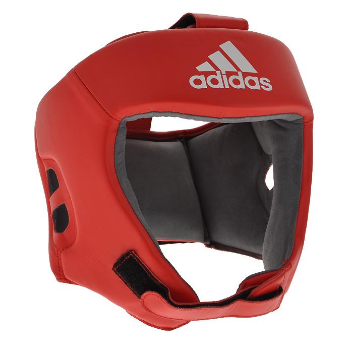 Шлем боксерский Adidas AIBA, цвет: красный. AIBAH1. Размер L (52-56 см) шлем боксерский adidas aiba цвет красный aibah1 размер xl 56 60 см