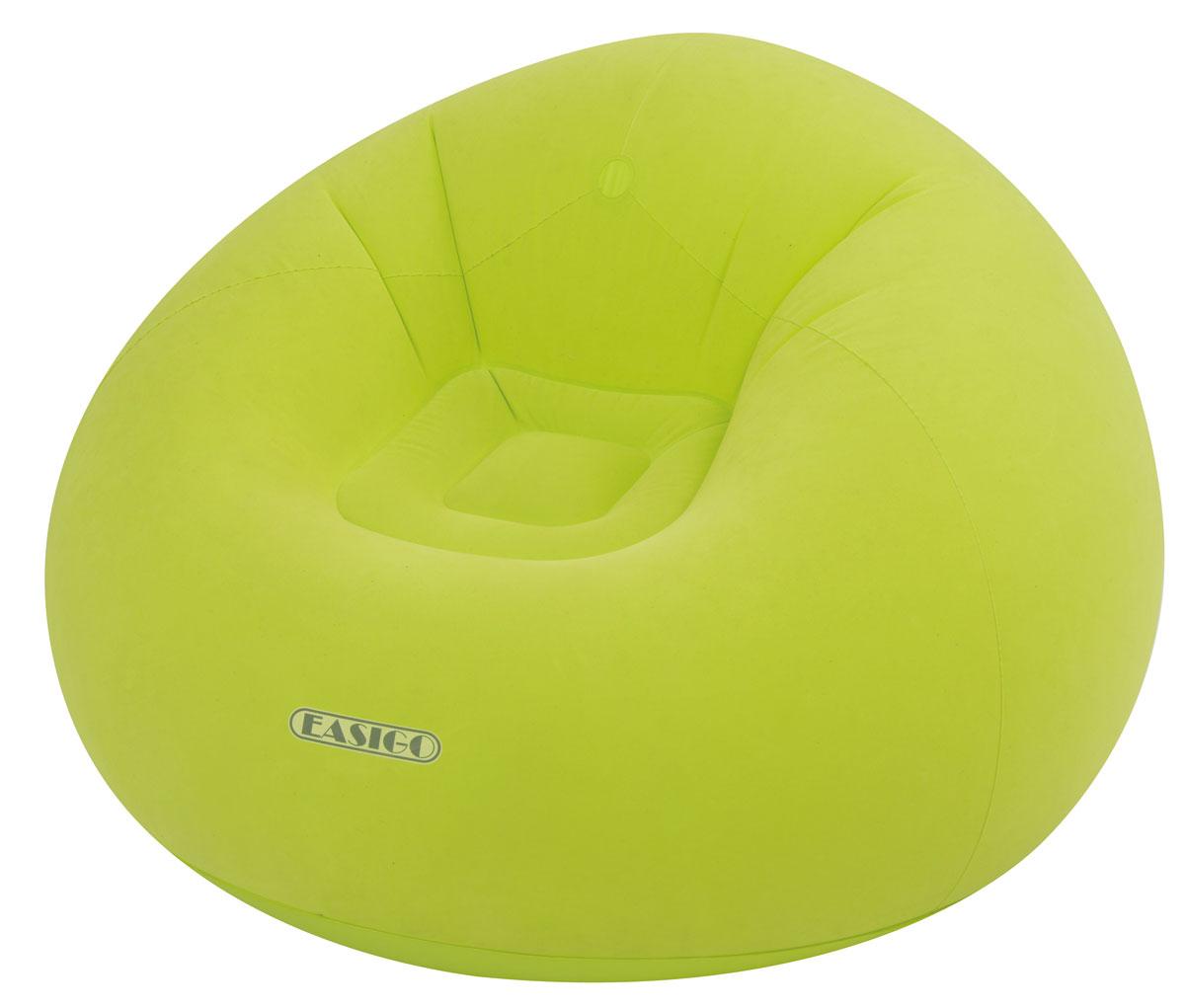 Кресло надувное Relax Easigo, цвет: салатовый, 105 х 105 х 65 см ceramic super oil stone metal holder tool 3mm round silver tone