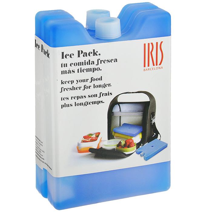"""Охлаждающий гелевый блок """"Iris Barcelona"""" дольше сохраняет свежесть вашей еды! Ваша еда дольше сохранит свою свежесть и вкус благодаря охлаждающему гелю, который находится внутри   контейнера. Просто поместите контейнеры в морозилку на 7 часов для надежной заморозки всего геля и затем   положите блок в ваш ланчбокс.   Характеристики: Материал: пластик, гель. Комплектация: 2 шт. Размер блока (ДхШхВ): 9,5 см х 14,5 см х 2 см."""