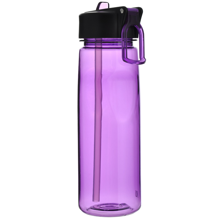 Фляжка пластиковая Iris Barcelona, цвет: лиловый, 650 мл термосы iris barcelona фляжка стеклянная в пластиковом корпусе 450 мл