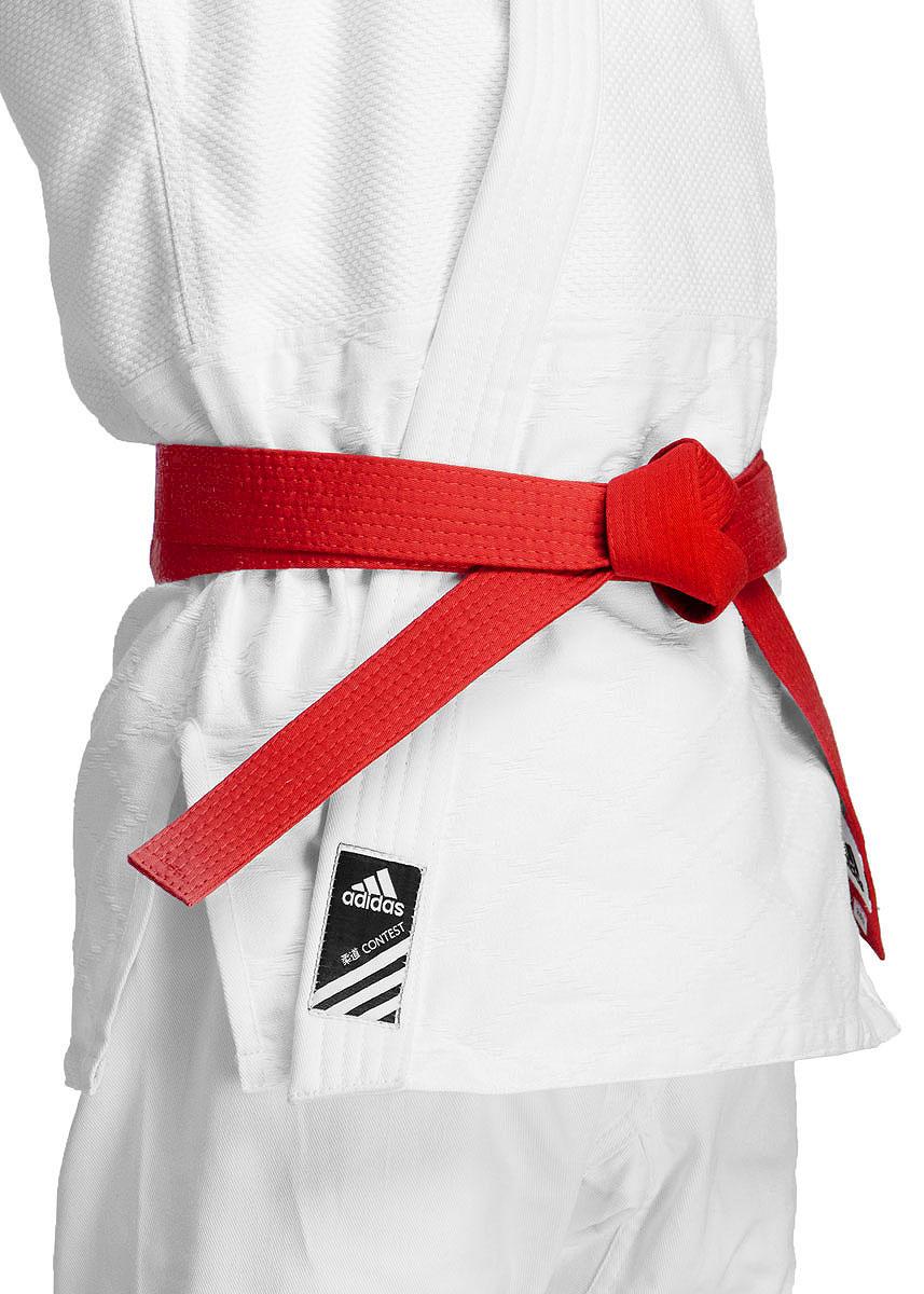 Пояс для единоборств adidas Club, цвет:  красный.  adiB220.  Длина 300 см Adidas