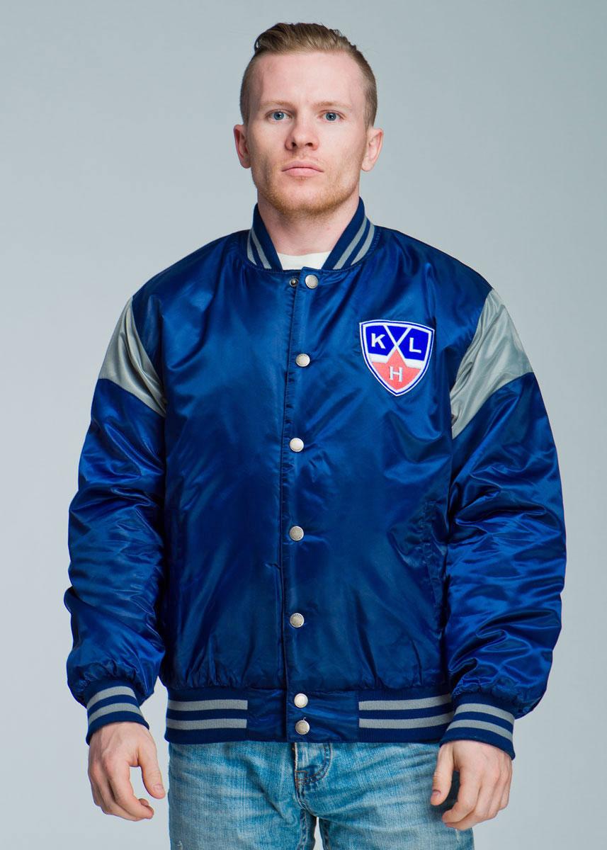 Фото Куртка мужская Atributika & Club КХЛ, цвет: темно-синий, серый. 270520. Размер S (46). Покупайте с доставкой по России