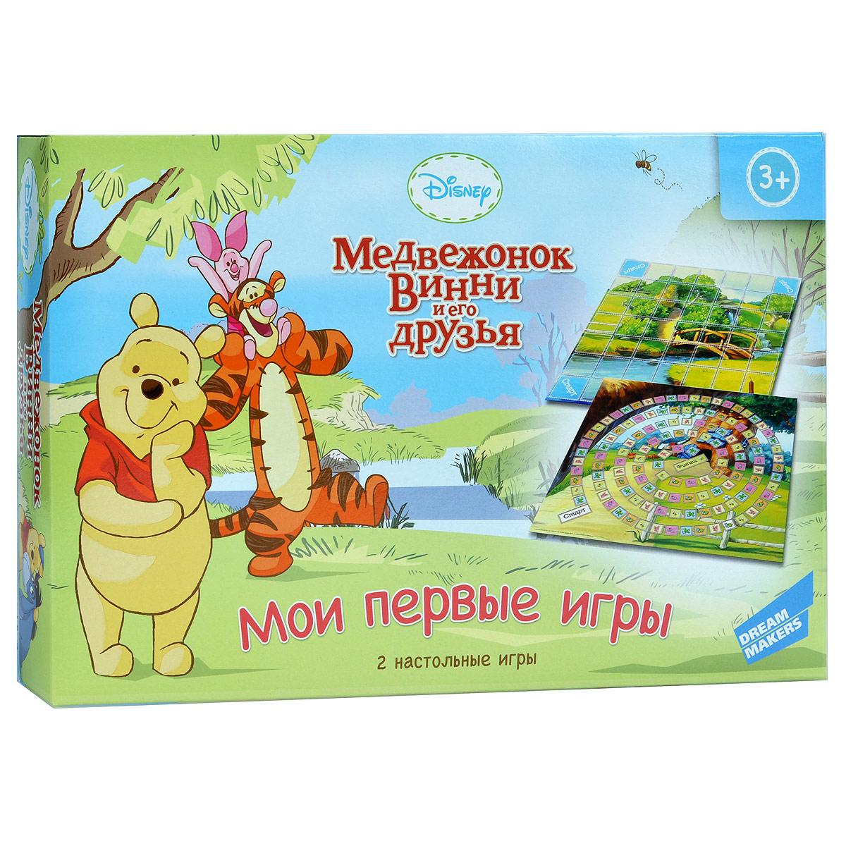 Winnie the Pooh Обучающая игра Медвежонок Винни и его друзья Мои первые игры 2 в 1 настольная игра 3 в 1 винни