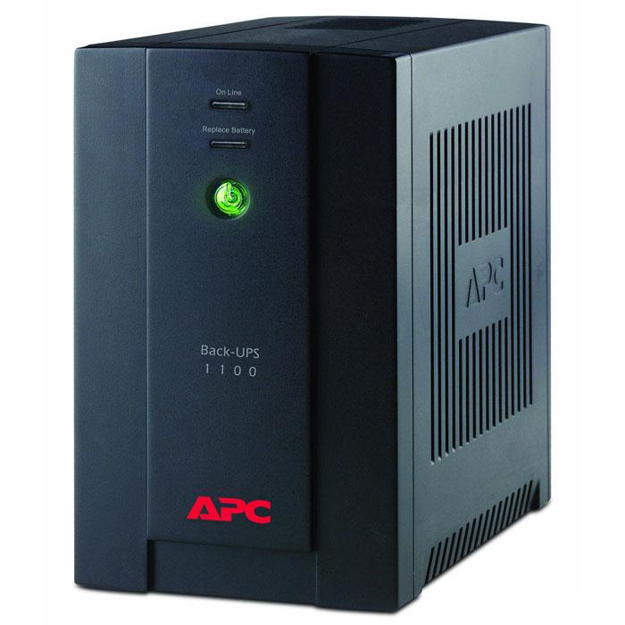 APC BX1100CI Back-UPS 1100VA ИБПBX1100CIAPC BX1100CI Back-UPS 1100VA - прекрасное решение для домашнего использования и офисных нужд. Стабилизация выходного напряжения ИБП выполнена так, что частота и напряжение на выходе определяются частотой и напряжением на входе. Выходная мощность данной модели составляет 660 Вт.