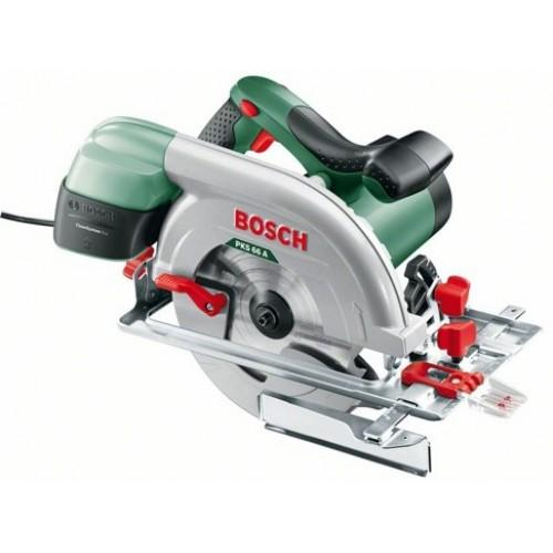 Дисковая пила Bosch PKS 66 A (0603502022) аккумуляторная дисковая пила bosch pks 18 li 2 5ah x1 06033b1302