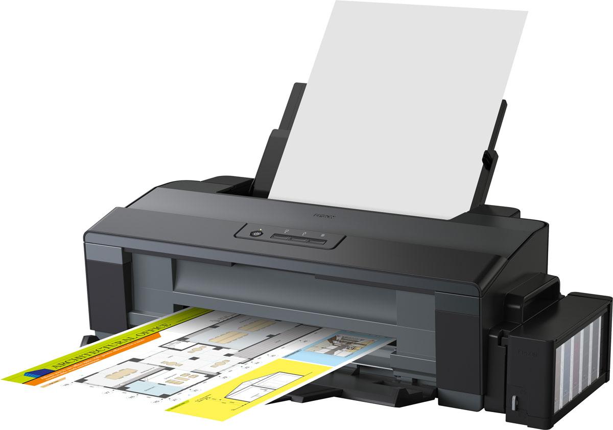 Epson L1300 принтер А3 форматаC11CD81402Принтер А3+ формата с рекордно низкой себестоимостью печатиФабрика печати Epson L1300 - Это четырехцветный принтер Формата А3+ с рекордно низкой себестоимостью печати. Данный принтер идеально подходит для экономичной печати документов, цветных изображений, докладов, веб-страниц, фотографий и многого другого. Благодаря системе безкартриджной печати себестоимость одного документа Формата А4 составляет 20 коп.*, а стартового набора чернил хватит примерно на 12800 отпечатков**. Что позволяет добиться сенсационно низкой стоимости владения, намного ниже, чем у любого принтера, использующего картриджи.Система чернильных емкостей с двумя отсеками для черных чернилВ Epson L1300 используются чернильные емкости с двумя отсеками для черных чернил, что позволяет подавать печатающую головку в 2 раза больше черных чернил и, соответственно, значительно увеличить скорость печати. Кроме того Чернильные емкости вмещают по 70 мл. черных чернил, что позволяет сократить количество перезаправок, а значит сэкономить время и упростить работу с устройством.Высокое качество печати и надежностьБлагодаря уникальной технологии печати Epson Micro Piezo и точному контролю давления в емкостях с чернилами вы всегда получаете отпечатки превосходного качества. Специально разработанные материалы, на основе которых изготовлены компоненты устройства, обеспечивают долгий срок службы принтера и работу без поломок.Удобство работы и безопасная транспортировка устройстваОсобая конструкция емкостей и контейнеров с чернилами позволяет даже неопытному пользователю с легкостью справиться с заправкой чернил. Специальная система блокировки чернил в емкостях гарантирует безопасную перевозку устройства, исключая возможность протечки чернил.Высокая скорость печатиДополнительным преимуществом Epson L1300 является система чернильных емкостей с двумя отсеками для черных чернил, что позволяет подавать в печатающую головку в два раза больше чернил и, как результат печатать со скорост