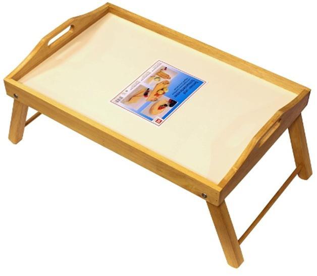 Поднос на ножках Dormann, светлое дерево8506Удобный поднос Dorman, выполненный из высококачественной древесины, практичен и прослужит вам долгие годы. Поднос имеет складные ножки, поэтому может использоваться как столик. Благодаря двум ручкам вы сможете с легкостью переносить поднос, а удобные ножки надежно удержат его на любой поверхности. С подносом Dorman ваш утренний завтрак станет незабываемым!Немецкая фирма Dormann основана в 1985 году. Компания производит большой ассортимент изделий из дерева. В их число входят подносы, наборы специй, перечницы, разделочные доски, держатели для бокалов и пивных кружек.Для изготовления этих товаров используются каучуковое дерево, сплав стали с хромом и стекло. Разнообразный интересный дизайн, удобство в использовании и прочность материалов, из которых изготовлена продукция, дают полное право называть продукцию Dormann эталоном качества!
