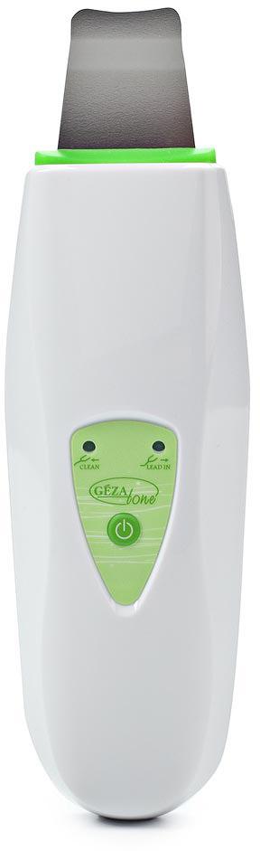 Gezatone Аппарат для ультразвуковой чистки лица HS2307i1302056Более 15 лет салоны красоты и косметические клиники предлагают процедуры с использованием ультразвуковых методик. Gezatone- инновационная модель для УЗ-пилинга, которая поможет вам делать дома процедуры, ничем не отличающиеся от салонных. Работа аппарата основана на принципе деликатного ультразвукового воздействия с частотой 25КГц, не травмирующего, не растягивающего кожу лица, помогающего восстановлению регенеративных свойств кожи и ее омоложению.Что может прибор для ультразвукового пилинга Gezatone HS2307I:Ультразвуковой пилинг лица - очищение и отшелушивание кожи.Ультразвуковые колебания на высокой частоте способствуют образованию на коже микроструй из очищающего косметического средства, с помощью которых из пор удаляются загрязнения и сальные отложения, а также ороговевшие клетки эпидермиса. Результатом ультразвукового пилинга становится выравнивание цвета лица, отбеливание кожи, глубокое очищение кожи лица, шеи и декольте, насыщение ее кислородом и более активное функционирование. Применение очищающего геля при процедуре ультразвукового пилинга приводит к выраженному улучшению цвета лица, состояния кожи, а также способствует ее скорейшему омоложению.Ультразвуковой микромассаж на клеточном уровне.Дополнительная функция аппарата Gezatone HS2307I - сонодермия (ультразвуковой микромассаж на клеточном уровне). Прибор для ультразвуковой чистки лица производит колебания, которые благотворно влияют на ткани, стимулируя выработку собственного коллагена и эластина, активируя обменные процессы в коже. Микромассаж на клеточном уровне - эффективное стимулирующее и омолаживающее средство, не деформирующее и не травмирующее кожу. Он позволяет усилить циркуляцию крови и лимфы, уменьшить отечность и одутловатость, а кроме того - помогает косметическим средствам проникать глубоко в активные слои кожи, от чего результат косметической процедуры многократно увеличивается.Прибор Gezatone HS2307I снабжен надежным электронн