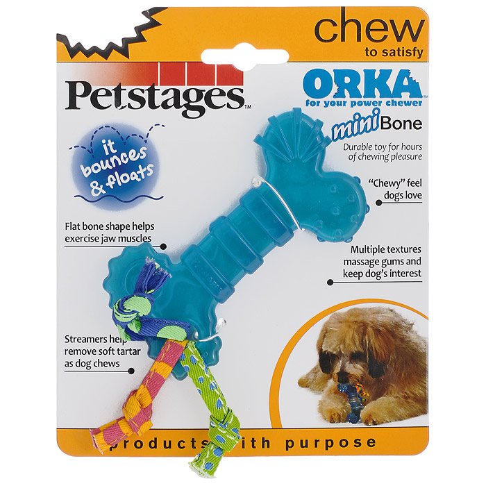 Игрушка для собак Petstages Mini Orka. Косточка