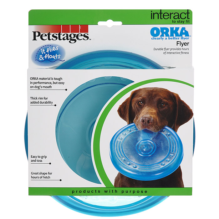 Игрушка для собак Petstages Orka. Летающая тарелка игрушка для кошек petstages orka катушка с веревочкой