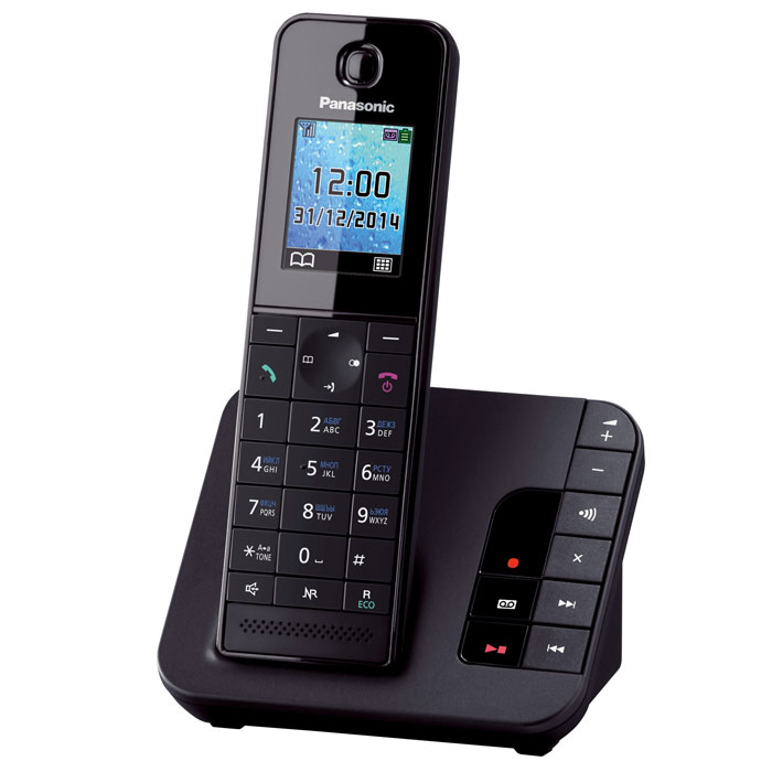 Panasonic KX-TGH220 RUB, Black DECT-телефон panasonic kx tgh222 rub black dect телефон