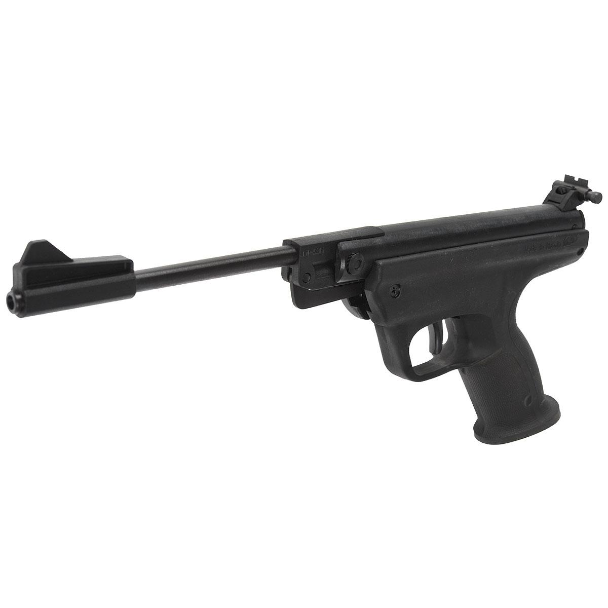 """Пневматический пистолет """"Байкал"""" МР-53М для тренировочной и развлекательной стрельбы. Прост и надёжен в эксплуатации.Классическая пружинно-поршневая конструкция , взведение боевой пружины осуществляется поворотом ствола в вертикальной плоскости (перелом вниз). Предохранительные механизмы обеспечивают безопасность в обращении с пистолетом: исключен удар стволом при случайном срыве руки во время взведения; происходит блокировка от выстрела при неполностью запертом стволе. Эргономичная пластмассовая рукоятка позволяет одинаково комфортно стрелять как с правой, так и с левой руки. Спусковой механизм с регулировкой длины рабочего хода спускового крючка. Прицел с микрометрической регулировкой по горизонтали и вертикали, с изменяемой длиной прицельной линии.Емкость магазина: 1 Вес: 1200 гВзвод """"переламыванием"""" ствола Уважаемые покупатели, при использовании пневматики соблюдайте технику безопасности: храните в разряженном состоянии в местах недоступных для детей, не направляйте на людей и животных, при стрельбе следите, чтобы в районе мишени не было людей, всегда используйте защитные очки и экипировку, перевозите пневматику в чехлах и сумках, не носите открыто в общественных местах!Перед использованием прочтите инструкцию!Грамотное обращение с пневматикой - залог Вашего приятного отдыха!Уважаемые покупатели, обращаем Ваше внимание, что авиадоставка в нижеперечисленные города этого товара временно недоступна!1. Ангарск2. Благовещенск3. Бодайбо4. Братск5. Владивосток6. Воркута7. Иркутск8. Калининград9. Надым10. Нарьян-Мар11. Находка12. Норильск13. Петропавловск-Камчатский14. Салехард15. Улан-Удэ16. Уссурийск17. Ухта18. Хабаровск19. Чита20. Энергетик21. Южно-Сахалинск22. ЯкутскВозврат  товара  возможен только при наличии заключения сервисного центра.Время работы сервисного центра: Пн-чт: 10.00-18.00Пт: 10.00- 17.00Сб, Вс: выходные дниАдрес: ООО """"ГАТО"""", 121471, г.Москва,  ул.  Петра  Алексеева,  д  12., тел. (495)232-4670, gato@gato.ru"""