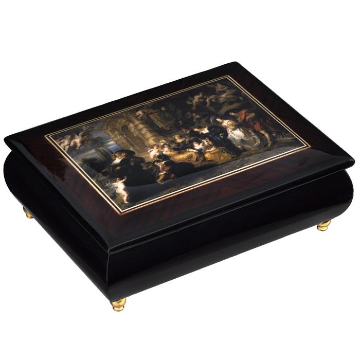 Шкатулка для ювелирных украшений Mercante, цвет: темно-коричневый, 17 х 13 х 6 см 36154 шкатулки trousselier музыкальная шкатулка 1 отделение fairy parma