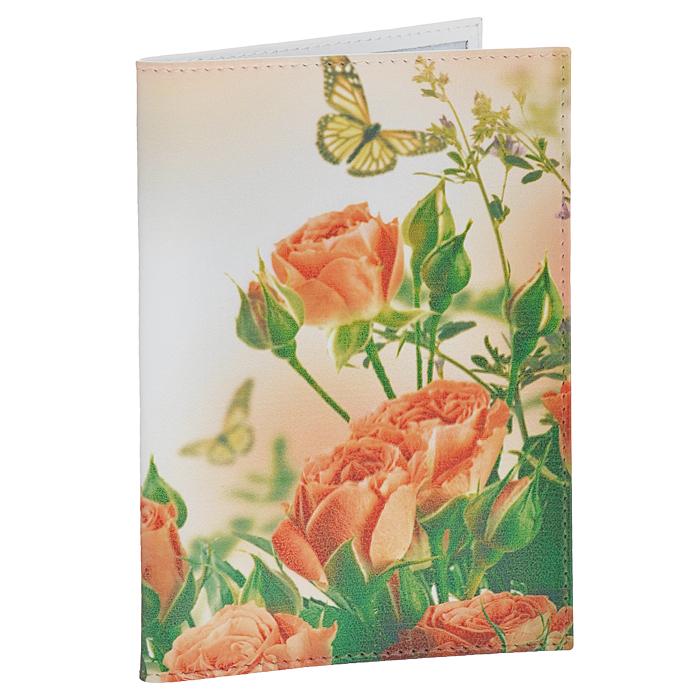 Обложка для паспорта Perfecto Розы и бабочки. PS-PR-0064PS-PR-0064Обложка для паспорта Perfecto Розы и бабочки изготовлена из натуральной кожи с изящным цветочным рисунком. Внутри содержится два кармашка из прозрачного ПВХ для паспорта. Обложка не только поможет сохранить внешний вид ваших документов и защитить их от повреждений, но и станет стильным аксессуаром, идеально подходящим вашему образу. Обложка для паспорта стильного дизайна может быть достойным и оригинальным подарком. Характеристики:Материал: натуральная кожа, ПВХ. Цвет: мультицвет. Размер обложки: 9,5 см х 13,7 см.