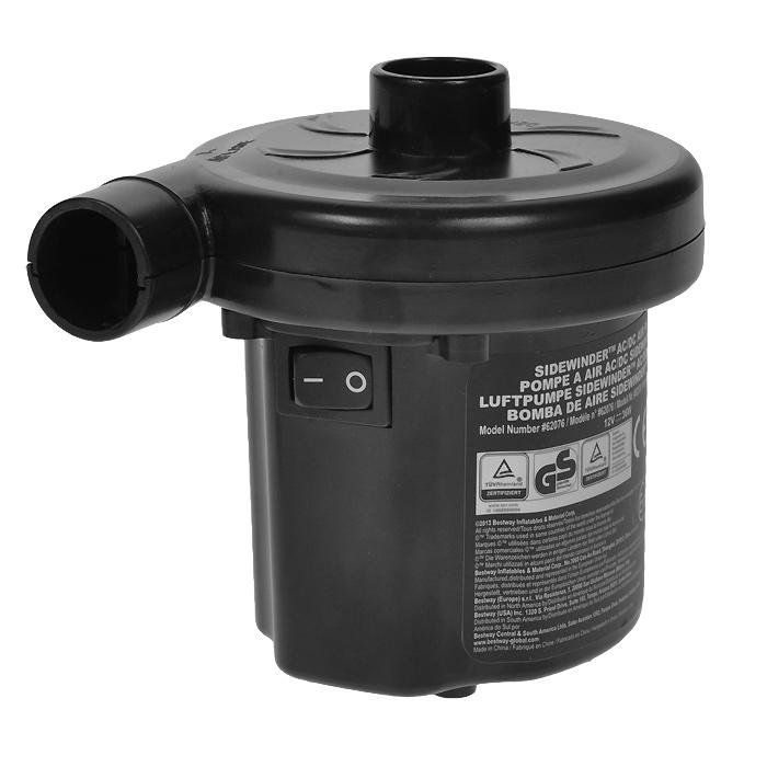 Насос электрический Bestway, цвет: черный, 12В/220В. 6207662076Компактный электрический насос Bestway работает автомобильного прикуривателя 12В и от электросети 220В. Два режима работы - накачивание или откачивание воздуха. В комплекте 3 насадки-переходника под различные виды клапанов. Гарантия производителя: 60 дней.