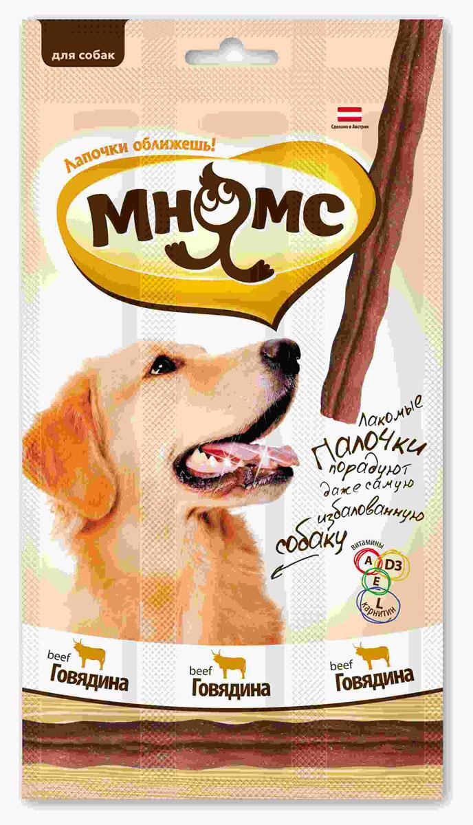 Лакомые палочки для собак Мнямс, с говядиной, 3х15 г700200Лакомые палочки с говядиной Мнямс - это вкусное и здоровое угощение для собак с большим содержанием мяса, которое придется по вкусу даже самому капризному любимцу. Палочки легко ломаются, идеально подходят в качестве поощрения для игр и тренировок. Норма употребления: давать в виде дополнения к основному питанию. Собаки мелких пород: 1-2 палочки в день. Собаки средних и крупных пород: 3-4 палочки в день (в зависимости от размера и активности собаки). Свежая вода должна быть всегда доступна вашему питомцу. Без искусственных ароматизаторов и красителей. Состав: мясо и продукты животного происхождения (90%, из них 31% говядина), производные растительного происхождения, минералы, витамин А 5000 ME/кг, витамин D3 500 ME/кг, L-карнитин 1000 мг/кг, витамин Е 50 мг/кг, антиоксиданты, консерванты.Белок 30%, жир 23%, клетчатка 3%, зола 7,5%.Товар сертифицирован.Тайная жизнь домашних животных: чем занять собаку, пока вы на работе. Статья OZON Гид