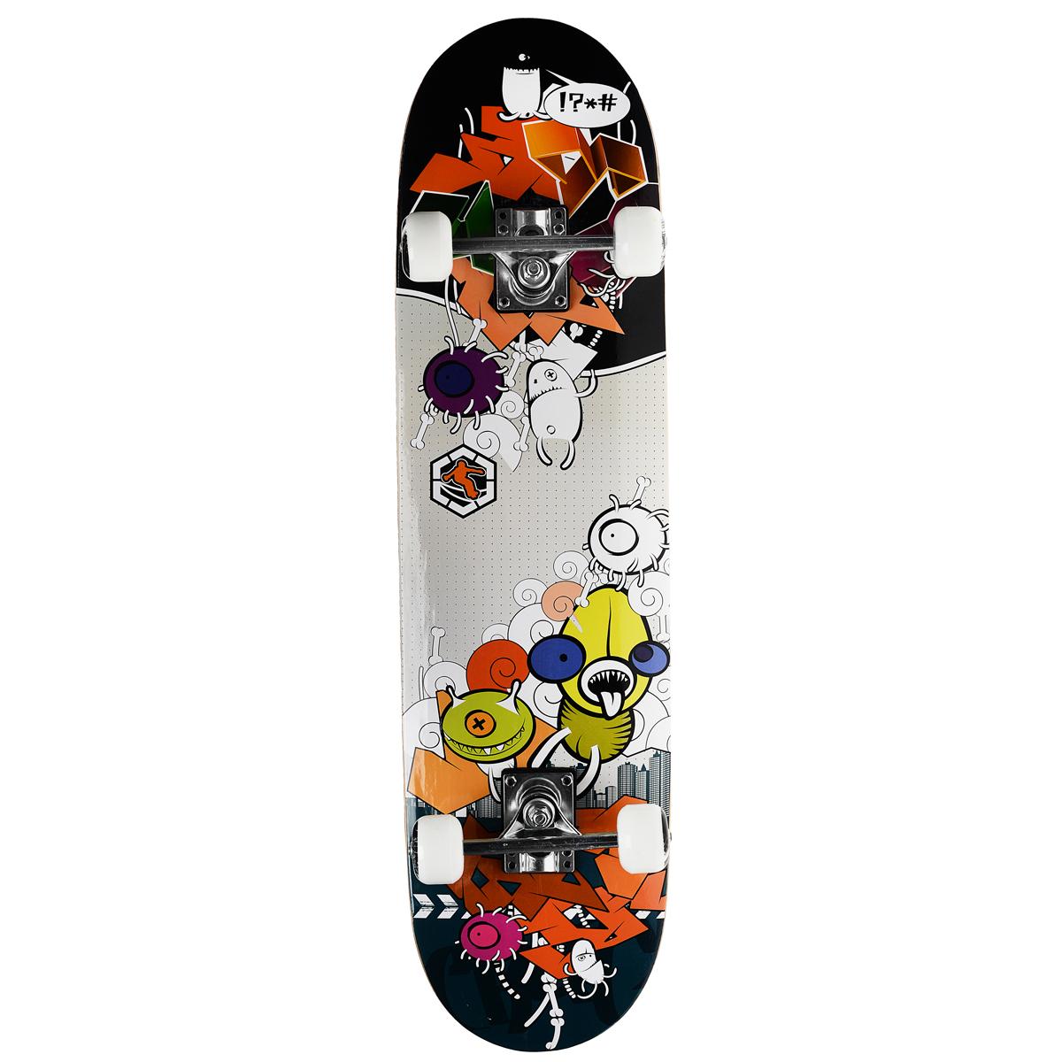 """Скейтборд MaxCity """"Crank"""", цветной принт, дека 79 см х 20 см"""