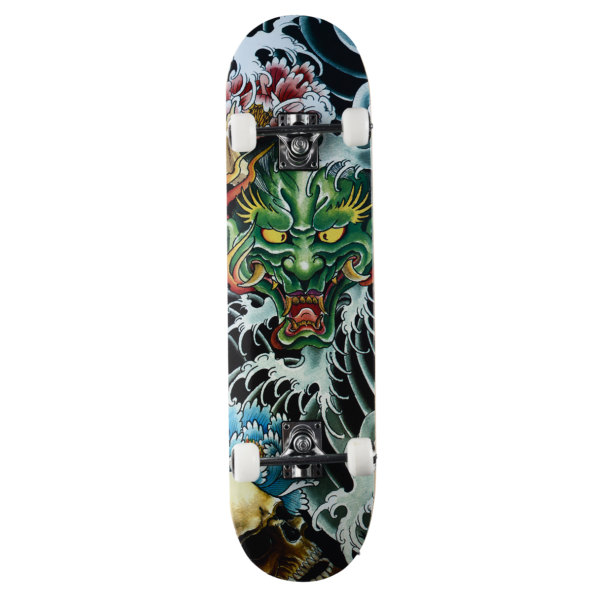 """Скейтборд MaxCity """"Dragon"""", цветной принт, дека 79 см х 20 см"""