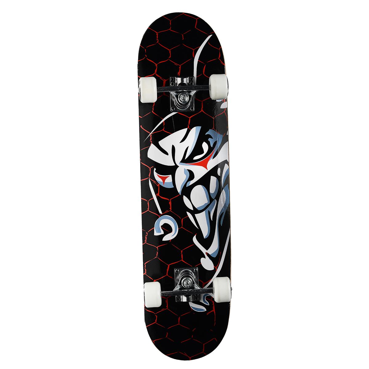"""Скейтборд MaxCity """"Joker"""", цветной принт, дека 79 см х 20 см"""