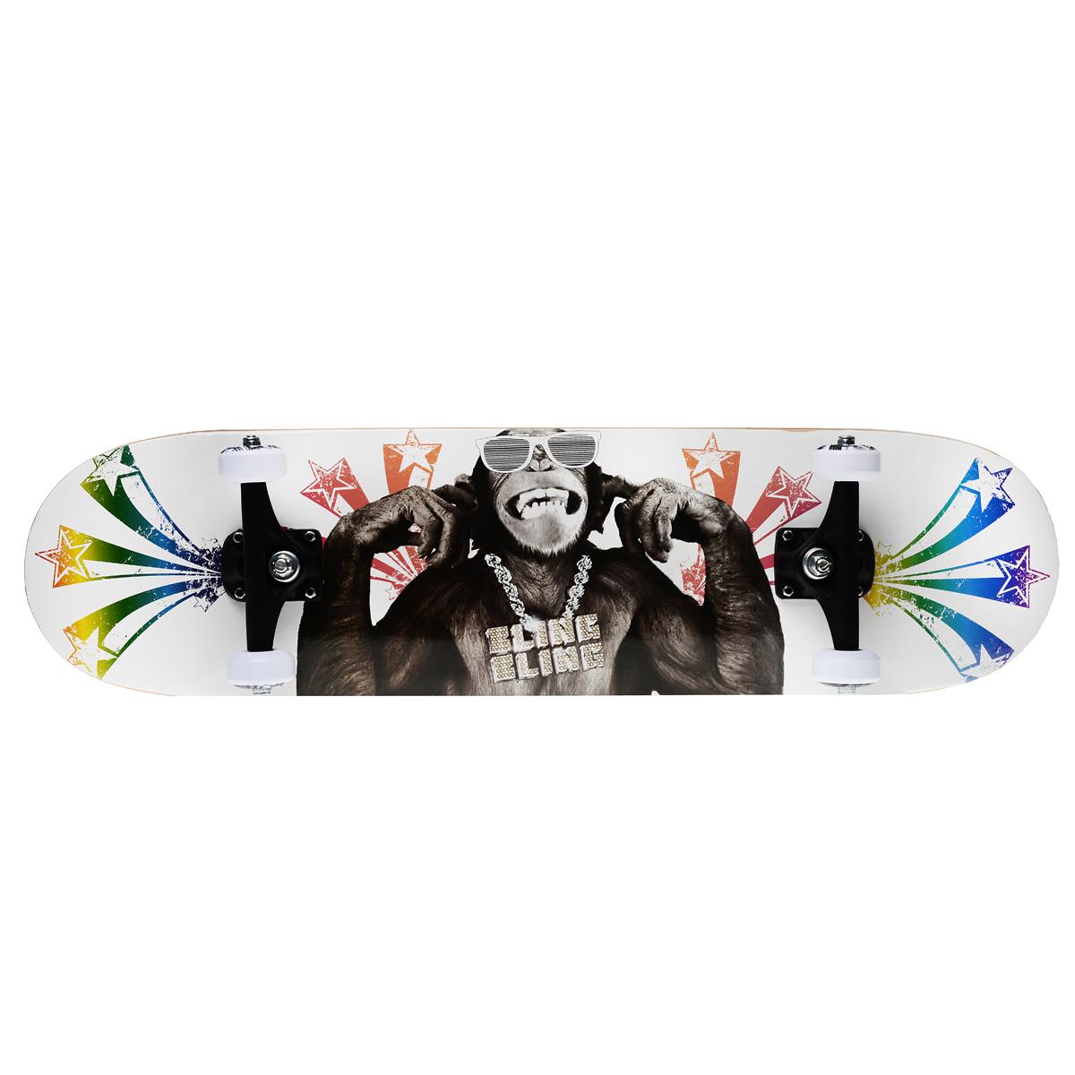 "Скейтборд MaxCity ""King Kong"", цветной принт, дека 79 см х 20 см"