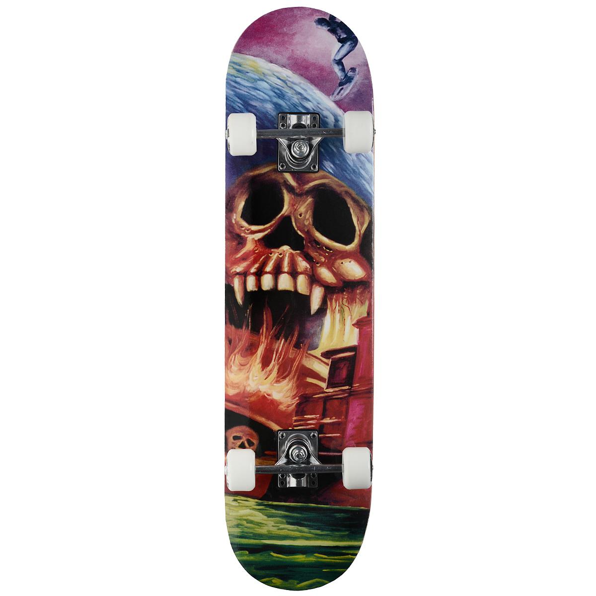 """Скейтборд MaxCity """"Cry"""", цветной принт, дека 79 см х 20 см"""