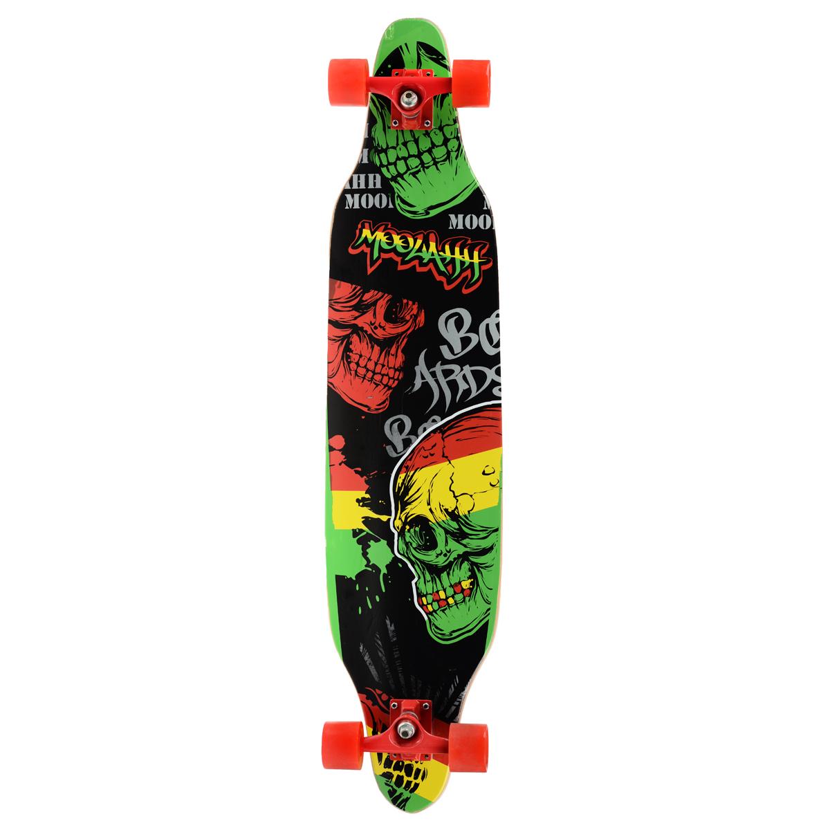 """Лонгборд MaxCity """"Long Board"""", цветной принт, дека 102 см х 24 см"""