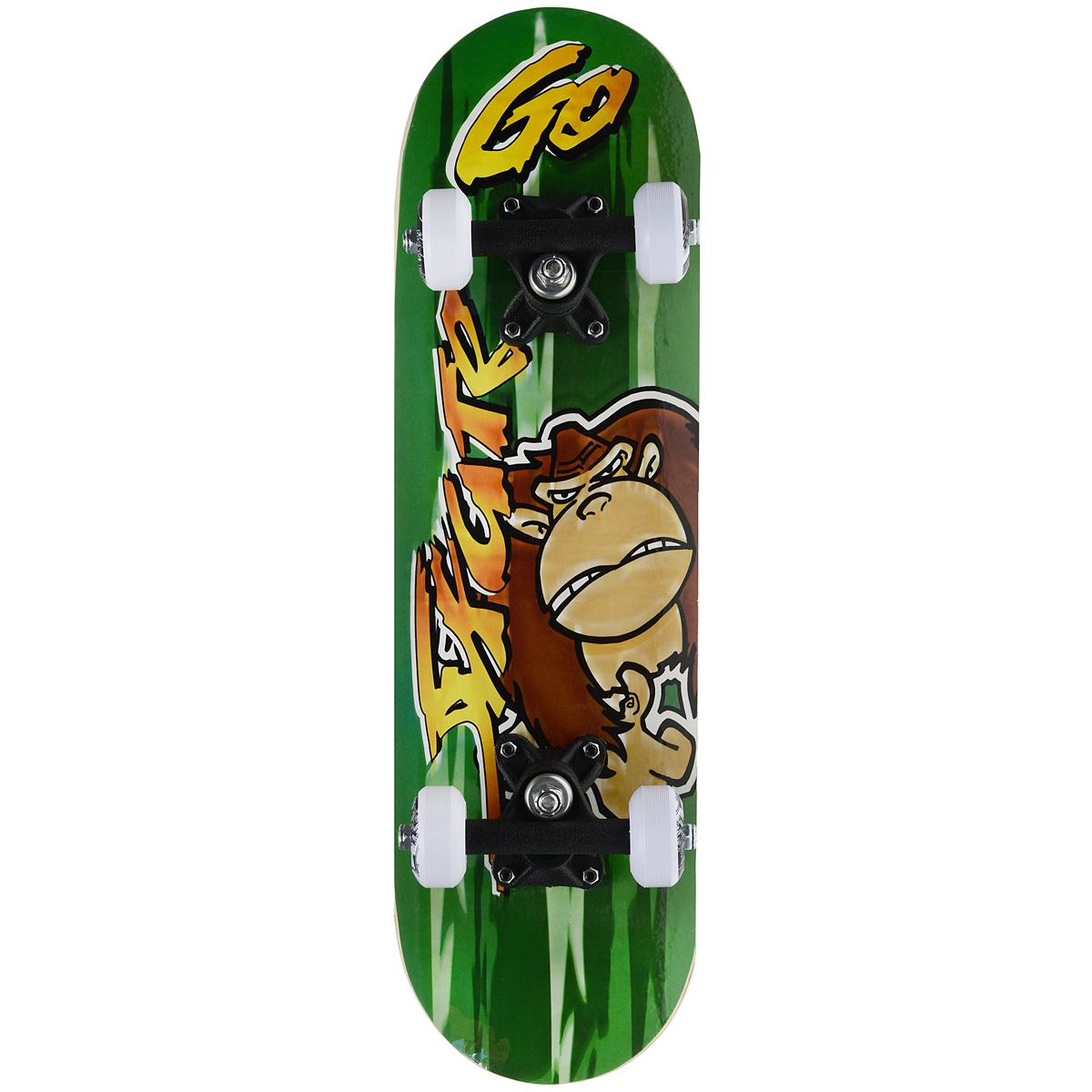 "Скейтборд MaxCity ""Monkey"", цветной принт, дека 55 см х 16,5 см"