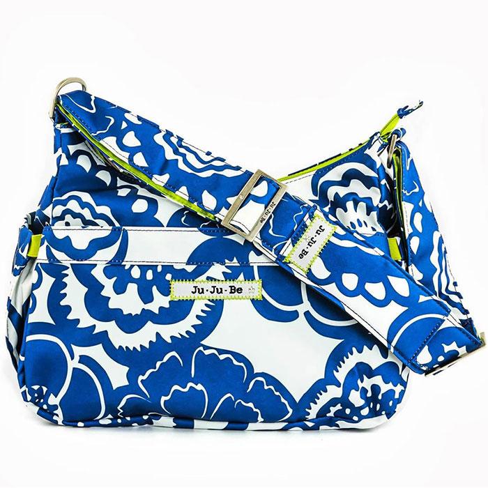 Сумка для мамы Ju-Ju-Be HoboBe. Cobalt Blossoms, цвет: синий, белый, салатовый ju ju be сумка для мамы hobobe black widow