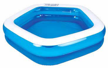 Бассейн надувной Jilong Pentagon, цвет: голубой, 201 х 197 x 47см бассейн каркасный jilong rectangular 258х179х66см голубой 16101eu