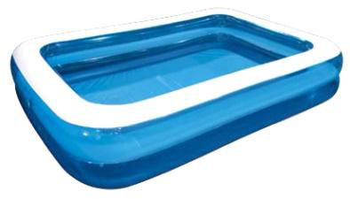 Бассейн надувной Jilong Grain, цвет: голубой, 305 х 183 х 50 см бассейн надувной jilong kids pool цвет голубой 150 см х 38 см