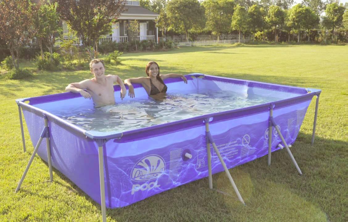 Бассейн каркасный Jilong Rectangular, цвет: голубой, 305 х 183 x 50 см бассейн каркасный jilong kids frame pool jl017256npfv01