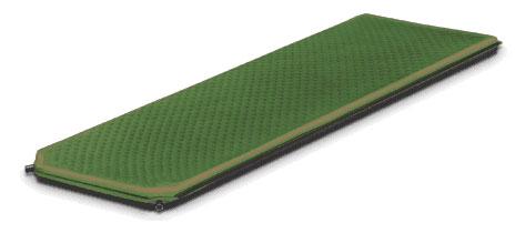 Коврик самонадувающийся Alexika Alpine Plus 80, цвет: зеленый, 198 см х 76 см х 7,5 см