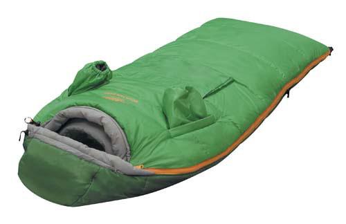 Спальный мешок Alexika Mountain Baby 9226.0101, цвет: зелёный, правосторонняя молния