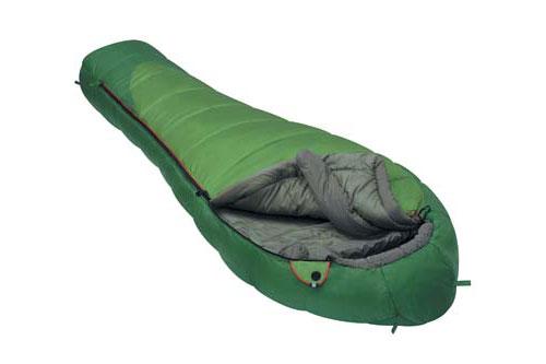 Спальный мешок Alexika Mountain Wide, цвет: зеленый, левосторонняя молния. 9222.01012