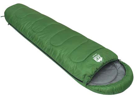 Спальный мешок KSL Trekking, цвет: зеленый, левосторонняя молния. 6221.01012