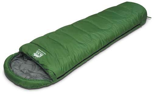 Спальный мешок KSL Trekking Wide, цвет: зеленый, правосторонняя молния. 6224.0101