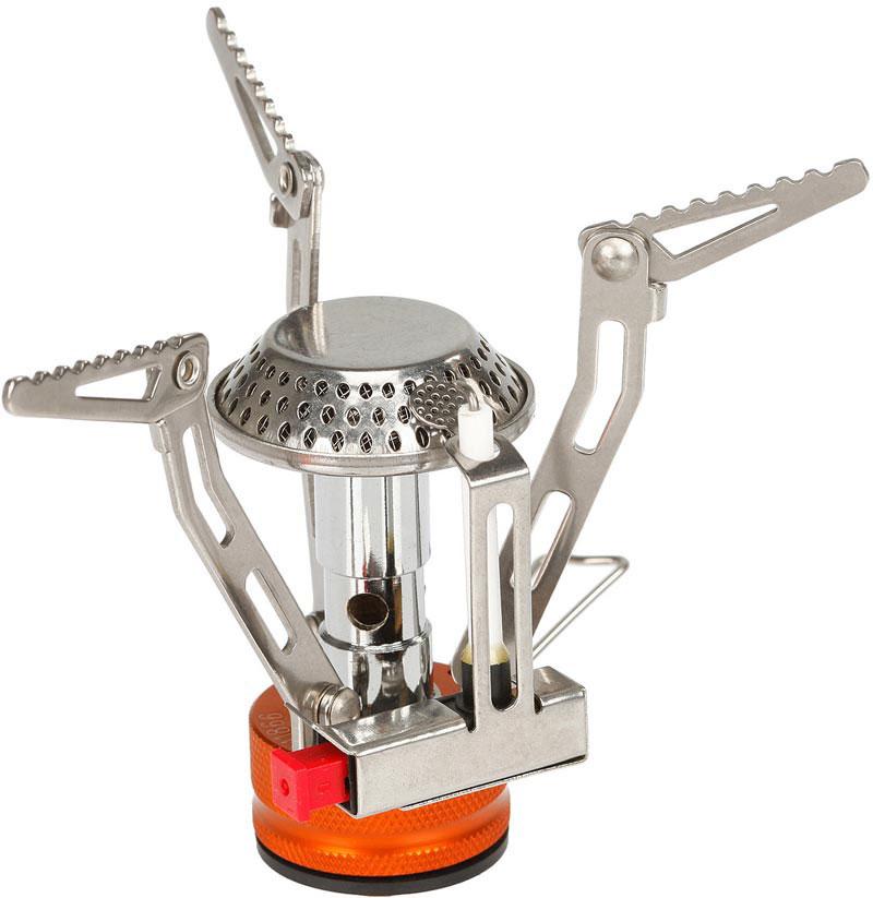 Газовая горелка Fire-Maple, c пьезоэлементом. FMS-102FMS-102Классическая газовая портативная горелка FMS-102. В этой портативной горелке применено новое технологическое решение, которое позволяет ставить на горелку емкости от малого до большого размера, благодаря универсальным лапкам-держателям имеющим 2 режима раскладывания. Объемная высокая конфорка обеспечивает сильное стабильное пламя и увеличивает мощность. Компактная складная горелка сделана из нержавеющей стали и сплава алюминия. Газовая портативная горелка FMS-102 снабжена ниппелем, особой системой предотвращения потери топлива при каждом подсоединении и отсоединении сменного картриджа. Это позволяет в разы снизить расход жизненно необходимого топлива в путешествии. Дополнительно имеется пьезоэлектрический поджиг, что позволяет мгновенно зажечь пламя. Эта модель отлично подходит для использования с резьбовыми сменными картриджами любых типов. Возможно подсоединение к цанговому баллону при помощи адаптера FMS-701.1 литр воды закипает за 3 минуты 25 секунд. При условиях: (ГОСТ 2939-63) Атмосферное давление 760 мм рт. ст., температура воздуха 20 °С, влажность 0%, температура воды 20 °С.Расход топлива при использовании фирменных сменных картриджей Fire-Maple серии FMS-G составляет: Сменный картридж FMS-G3 110 г ~38 минут, сменный картридж FMS-G2 230 г ~75 минут и сменный картридж FMS-G5 450 г ~144 минут.