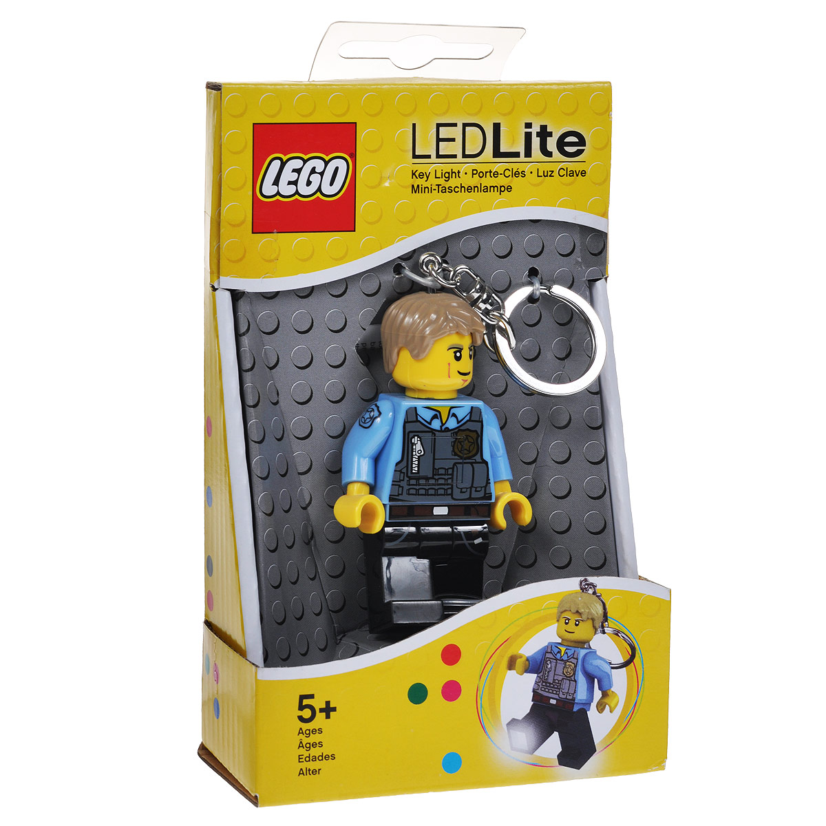 Брелок-фонарик для ключей Lego City - Chase McCain lego lego брелок для ключей джестро