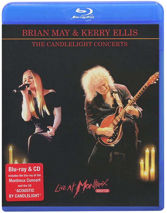 Brian May & Kerry Ellis: The Candlelight Concerts. Live At Montreux 2013 (Blu-ray + CD) love is in the hair carving cutting wall sticker
