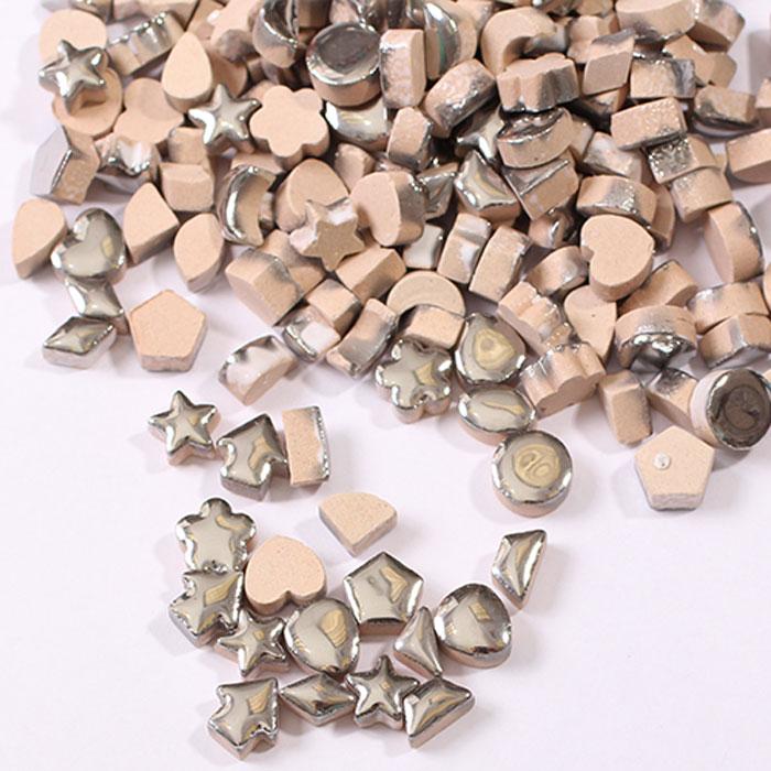 Мозаика керамическая Craft Premier с серебрянной глазурью, 1 см х 1 см, 100 г заготовка для открытки craft premier с конвертом а6 цвет в ассортименте 5 шт