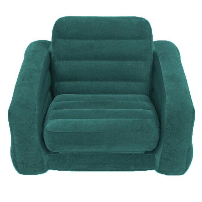 Кресло надувное Intex, цвет: зеленый, 218 х 109 х 66 см. 68565