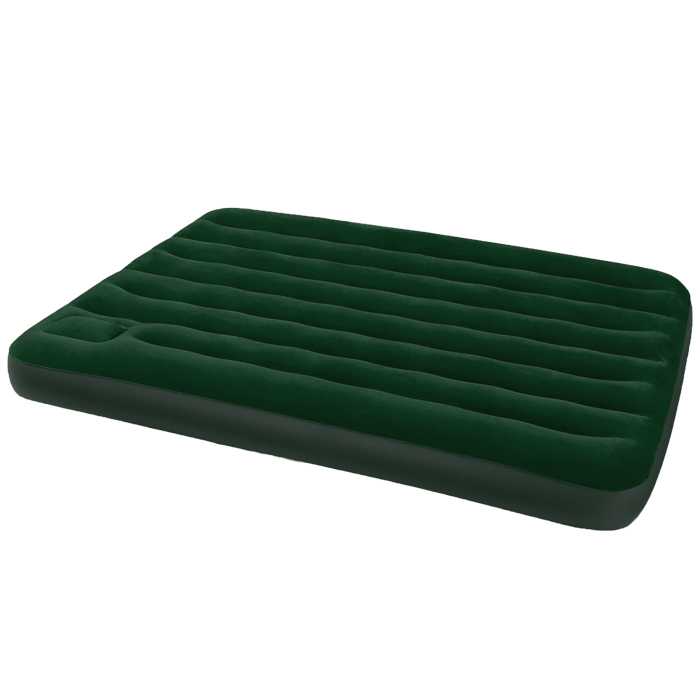 Матрас надувной Intex, флокированный, цвет: зеленый, 191 х 137 х 22 см. 66928
