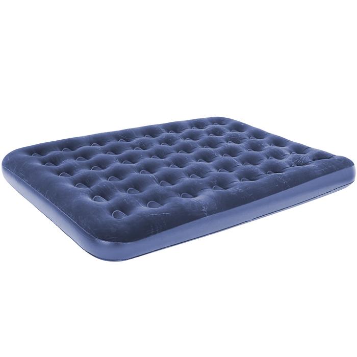 Матрас надувной Bestway, флокированный, цвет: синий, 203 х 152 х 22 см. 67003