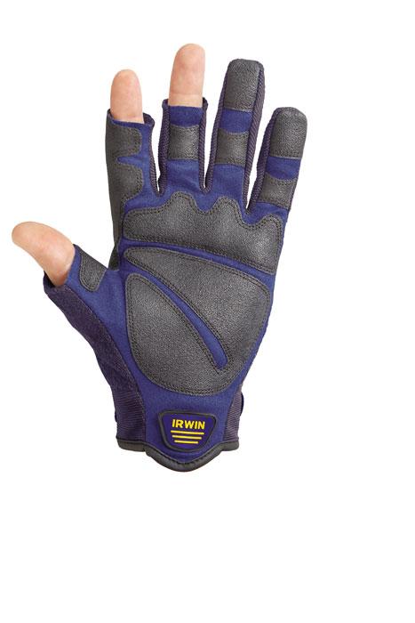 Перчатки Irwin для плотницких работ, открытые 3 пальца. Размер L10503828