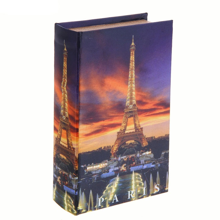 Сейф-книга Романтика Парижа, 12 см х 21 см х 4,5 см. 680642680642