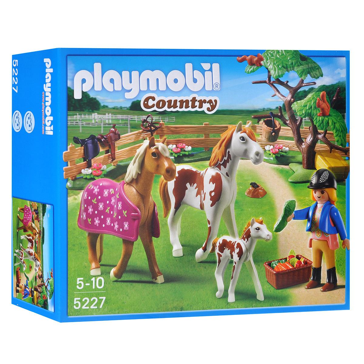 Игровой набор-конструктор Playmobil Лошади: Загон для лошадей, 50 элементов playmobil игровой набор африка газели