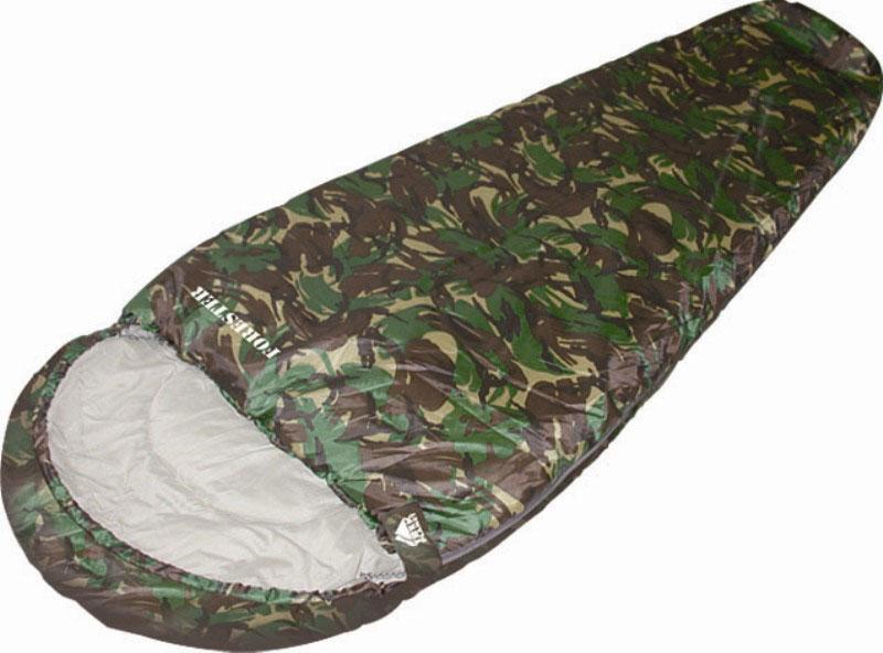 """Спальный мешок TREK PLANET """"Forester"""", цвет: камуфляж, правосторонняя молния"""